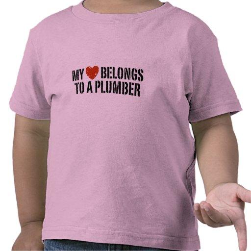 My Heart Belongs To A Plumber Tshirts