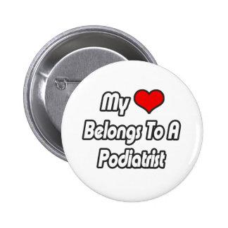 My Heart Belongs To A Podiatrist 2 Inch Round Button