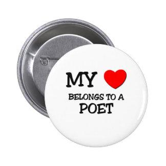 My Heart Belongs To A POET Pin