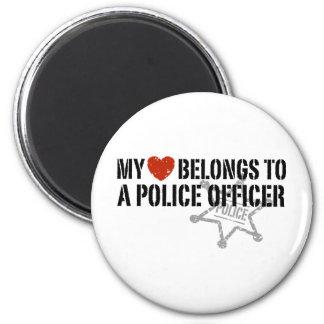 My Heart Belongs to a Policeman Fridge Magnets