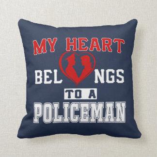 My heart belongs to a Policeman Throw Pillow
