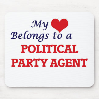 My heart belongs to a Political Party Agent Mouse Pad