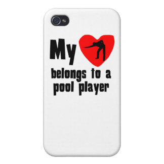 My Heart Belongs To A Pool Player iPhone 4 Cover