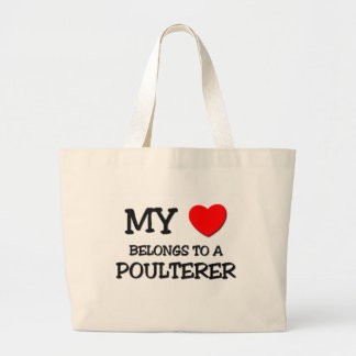 My Heart Belongs To A POULTERER Canvas Bags