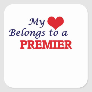 My heart belongs to a Premier Square Sticker
