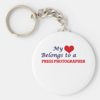 My heart belongs to a Press Photographer Keychain