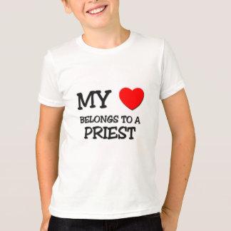 My Heart Belongs To A PRIEST T-Shirt