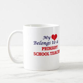 My heart belongs to a Primary School Teacher Coffee Mug