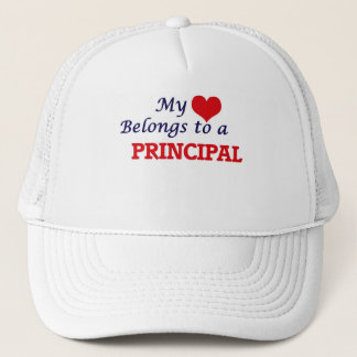 My heart belongs to a Principal Trucker Hat