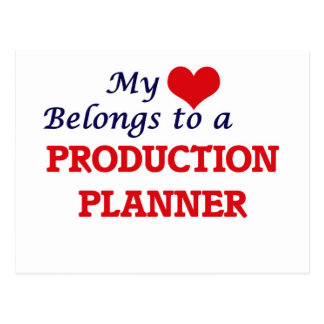 My heart belongs to a Production Planner Postcard