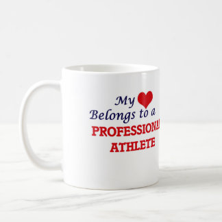 My heart belongs to a Professional Athlete Coffee Mug