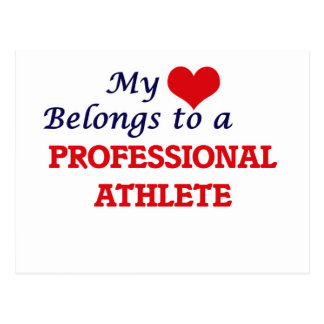 My heart belongs to a Professional Athlete Postcard