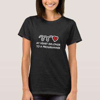 My heart belongs to a programmer   Womens t shirt