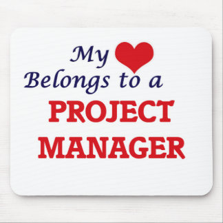 My heart belongs to a Project Manager Mouse Pad