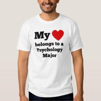 My Heart Belongs To A Psychology Major T-shirt