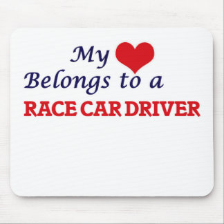My heart belongs to a Race Car Driver Mouse Pad