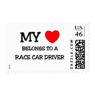 My Heart Belongs To A RACE CAR DRIVER Stamp