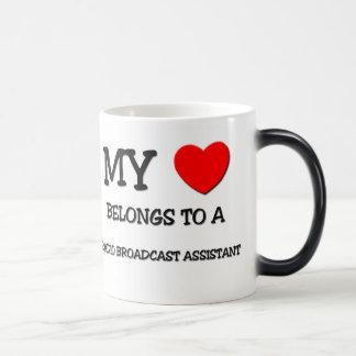 My Heart Belongs To A RADIO BROADCAST ASSISTANT Magic Mug
