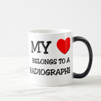 My Heart Belongs To A RADIOGRAPHER Magic Mug