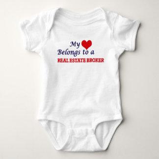 My heart belongs to a Real Estate Broker Baby Bodysuit