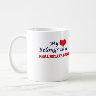 My heart belongs to a Real Estate Broker Coffee Mug