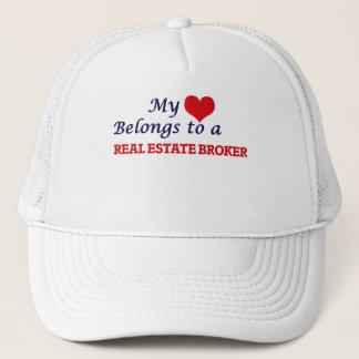 My heart belongs to a Real Estate Broker Trucker Hat