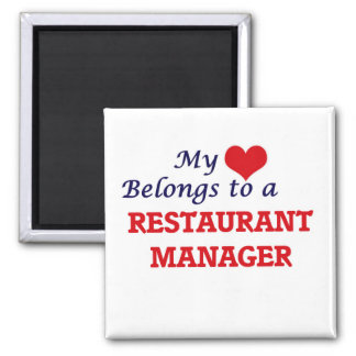 My heart belongs to a Restaurant Manager Magnet