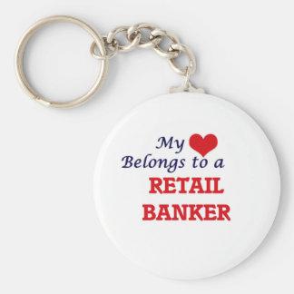 My heart belongs to a Retail Banker Keychain
