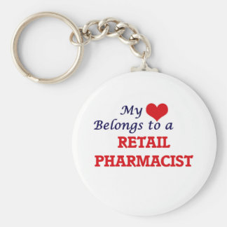 My heart belongs to a Retail Pharmacist Keychain