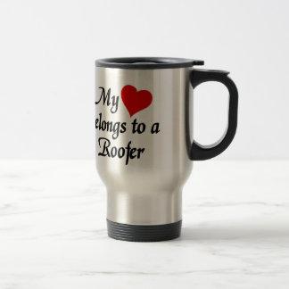 My heart belongs to a roofer travel mug