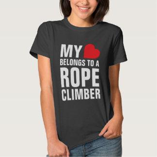 My heart belongs to a Rope Climber T-shirt