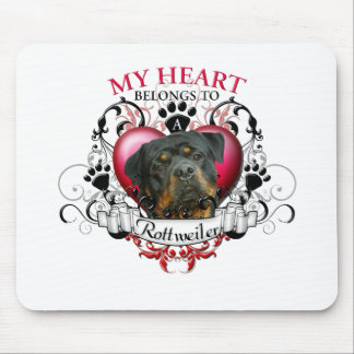 My Heart Belongs to a Rottweiler 2 Mouse Pad