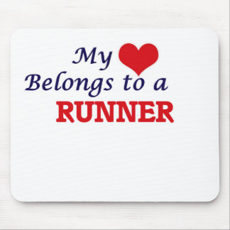 My heart belongs to a Runner Mouse Pad