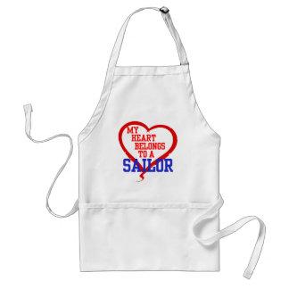 My Heart Belongs to a Sailor Adult Apron