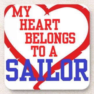 My Heart Belongs to a Sailor Drink Coaster