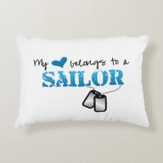 My Heart Belongs To A Sailor Decorative Pillow