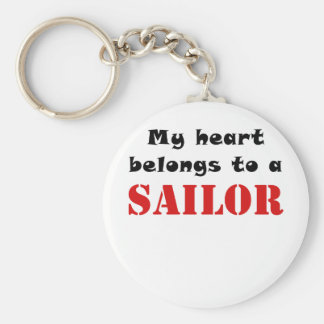 My Heart Belongs to a Sailor Keychains