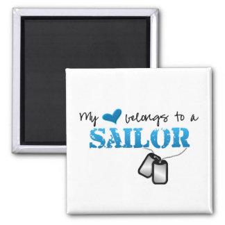 My Heart Belongs To A Sailor Magnet