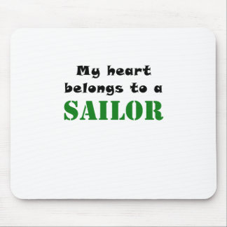 My Heart Belongs to a Sailor Mouse Pad