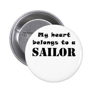 My Heart Belongs to a Sailor Pinback Button