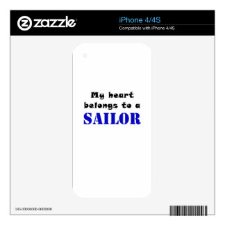 My Heart Belongs to a Sailor Decals For The iPhone 4S