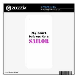 My Heart Belongs to a Sailor Skins For The iPhone 4S