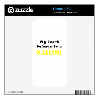 My Heart Belongs to a Sailor Decal For The iPhone 4