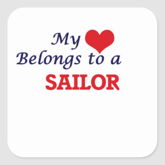 My heart belongs to a Sailor Square Sticker