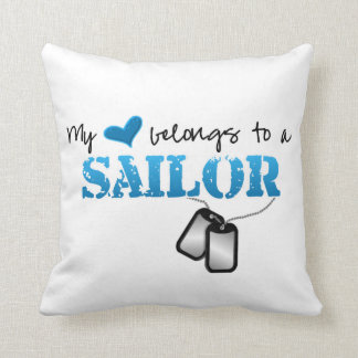 My Heart Belongs to a Sailor Throw Pillow