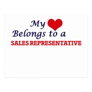 My heart belongs to a Sales Representative Postcard