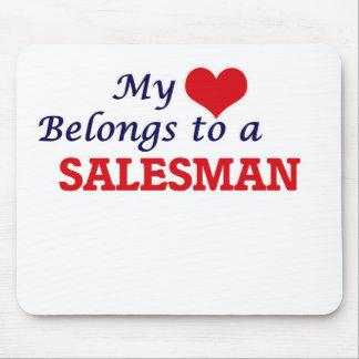 My heart belongs to a Salesman Mouse Pad