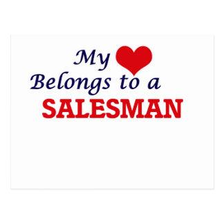 My heart belongs to a Salesman Postcard