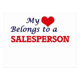 My heart belongs to a Salesperson Postcard