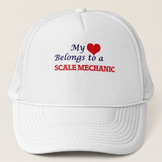 My heart belongs to a Scale Mechanic Trucker Hat